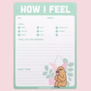NWT Pusheen Box Exclusive Daily Feelings Notepad